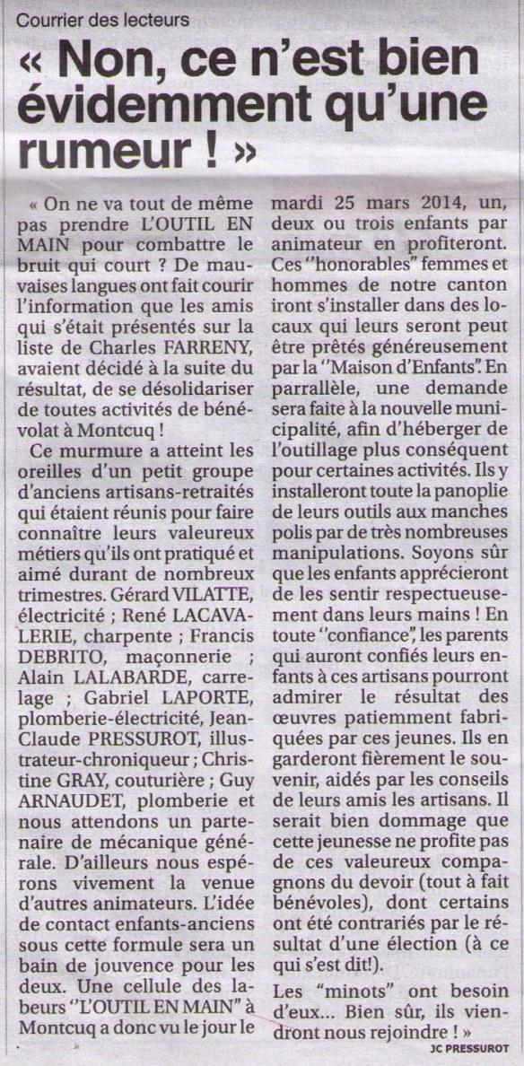 2014-04-03_Le Petit Journal_Evidemment ce n'est qu'une rumeur_JC Pressurot