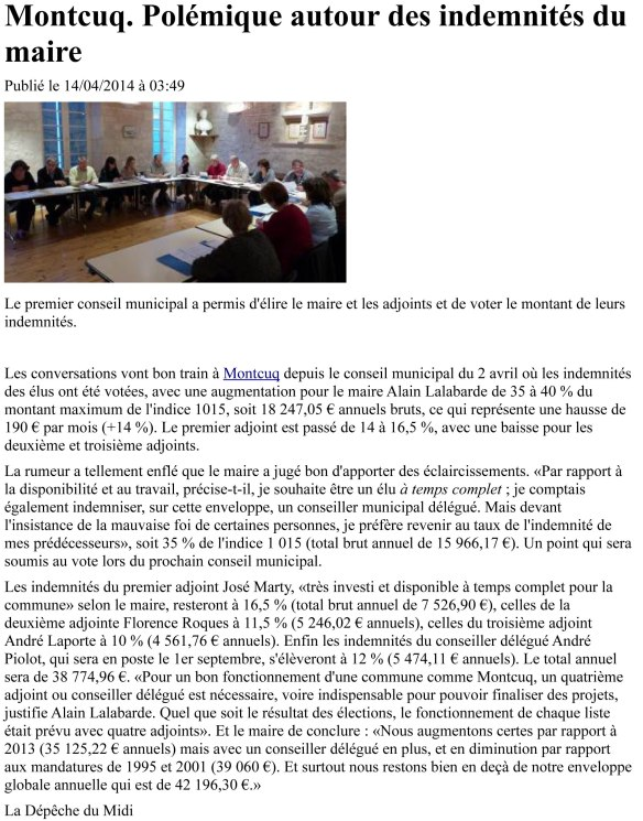 2014-04-14_Polémique sur la rémunération du maire